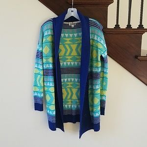 Nwot roxy bright colored cardigan size small